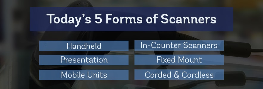 todays 5 forms of barcode scanners